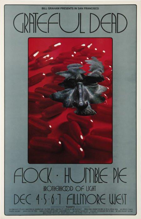 concert poster, Fillmore West, 12/4 - 12/7, 1969 by David Singer