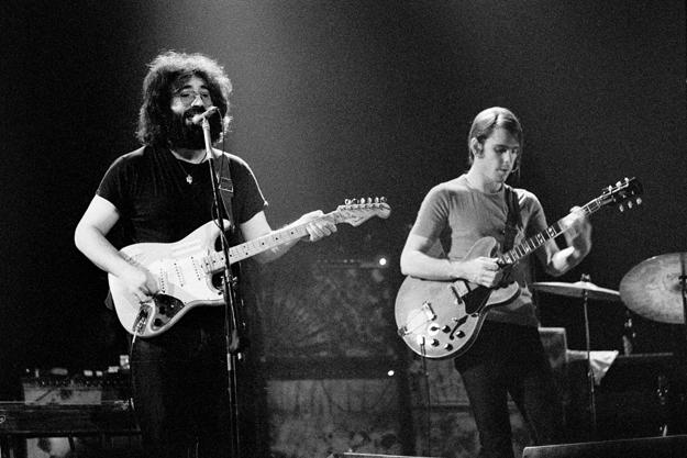 Jerry Garcia and Bob Weir in Denmark, April 1972 - Jorgen Angel, Getty Images