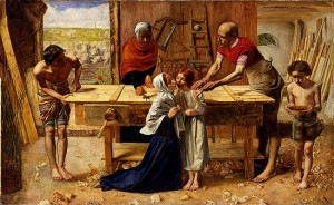 """""""Christ in the House of His Parents"""" (1849-1850), Sir John Edward Millais (on display at Tate Britain)"""