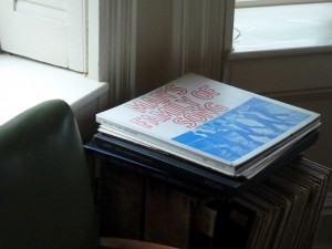 Carl Sandburg's albums at Connemara, Carl Sandburg Home National Historic Site (photo by K. Bigger)