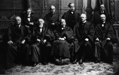 The Fuller Court, 1894-1895 (from the Collection of the Supreme Court of the United States) So what do these nine justices of the Supreme Court have to do with murder ballads? Read on and find out!