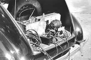 Lomax's famous portable recording rig, ca. late 30's