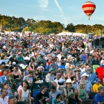 View of crowd at Philadelphia Folk Festival