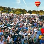 View of crowd at Philadelphia Folk Festival