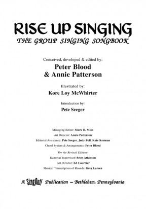 Rise Up Singing: Title Page