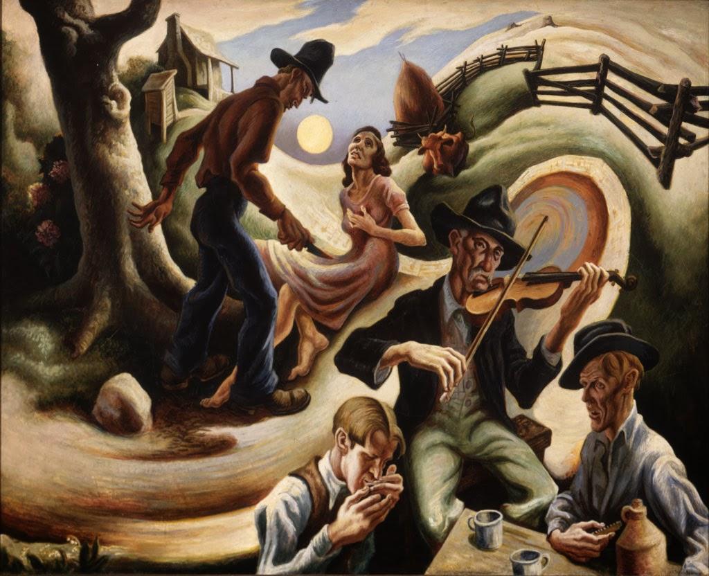 The Ballad of the Jealous Lover of Lone Green Valley - Thomas Hart Benton, 1934