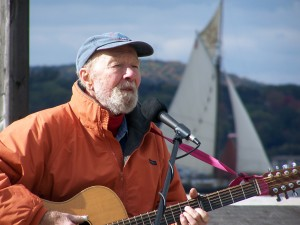 Pete Seeger, Hudson River Activist (Photo by Dona Crawford)