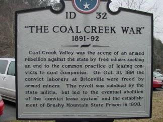 Historical Marker - Briceville, Tennessee