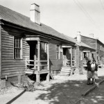 Fahm Street, west side. Row houses built around 1850 - Frances Benjamin Johnston, ca. 1939