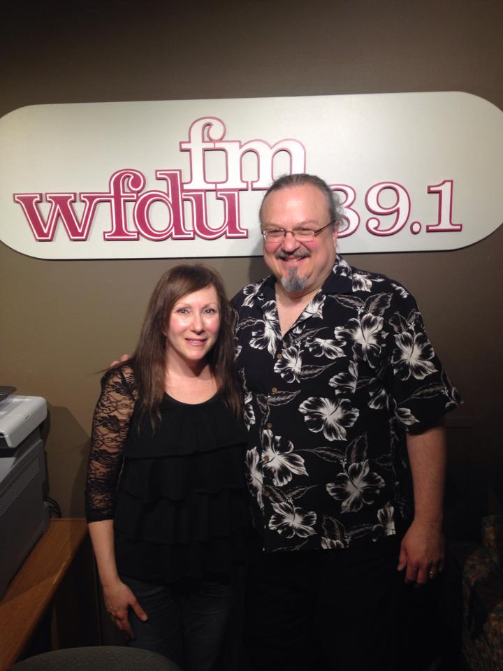 Marci Geller and Ron Olesko at WFDU-FM