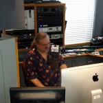 Ron Olesko on the air at WFDU-FM