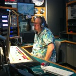 Ron Olesko on the air at WFDU-FM on June 15, 2004