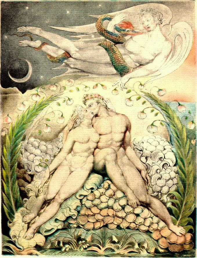 Satan Watching the Caresses of Adam and Eve (Illustration to Paradise Lost), William Blake, 1808