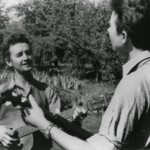 Woody Guthrie and Pete Seeger (image from the Grammy Museum, courtesy of the Highlander Education Center)