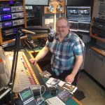Ron Olesko on the air at WFDU-FM in Teaneck, NJ
