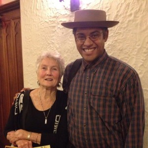 Peggy Seeger and Dom Flemons (photo from Dom Flemons)