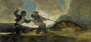 "Francisco Goya: ""Fight with Cudgels"" (c.1820-1823) (Source: Wikipedia)"