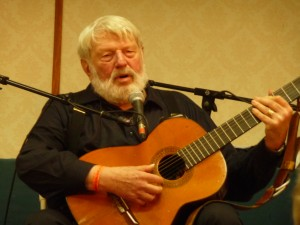 Theodore Bikel performing at NERFA in 2010 - photo by Wanda Adams Fischer