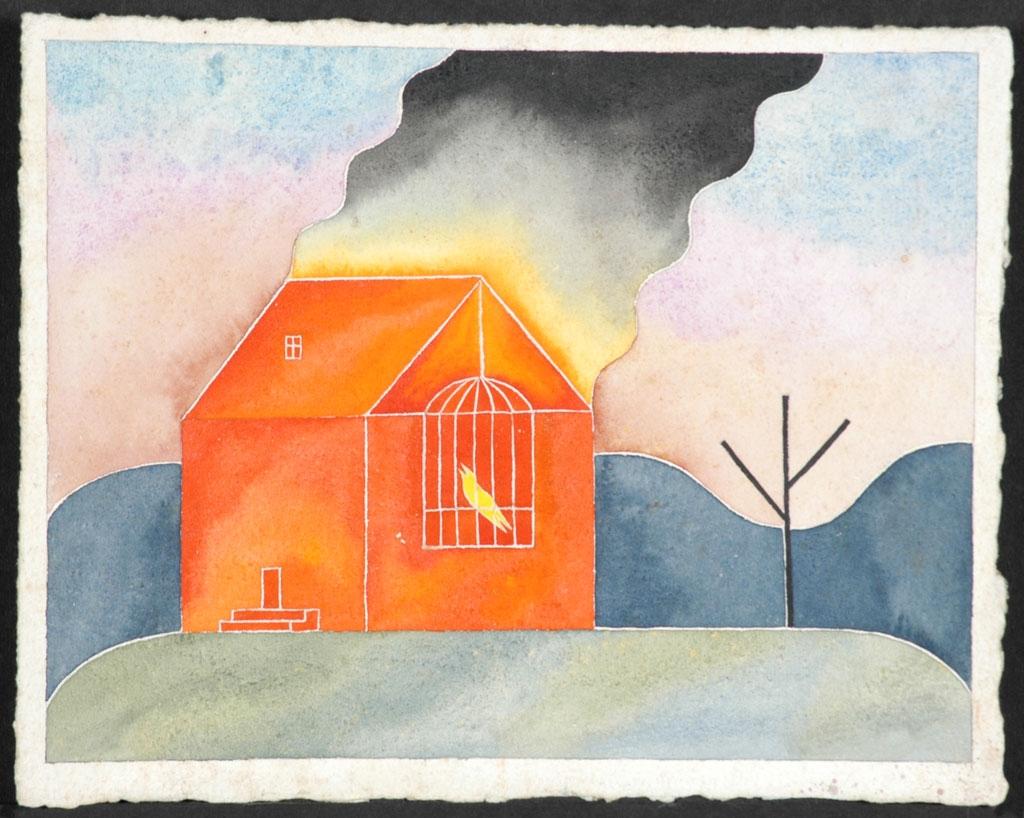 Music - 1989, Dan Dutton - Watercolor on paper, private collection