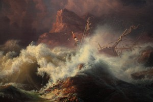 """The Wreck"" by Knud-Andreassen Baade (1808-1879) From the collection of the Victoria & Albert Museum."