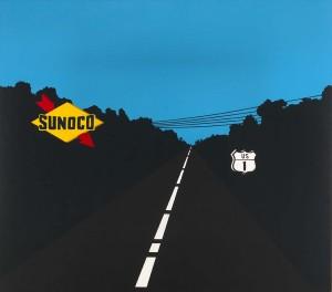 """Allen D'Arcangelo: """"US Highway 1"""" (1962)"""