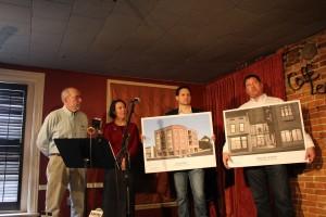 Announcement of the philanthropic partnership of Caffé Lena and Bonacio Construction Inc. (Photo courtesy of Wanda Adams Fischer)
