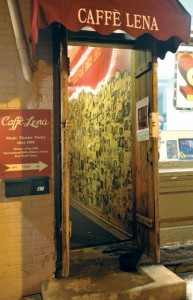 Current entrance to Caffè Lena