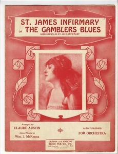 Sheet music for 'St. James Infirmary'