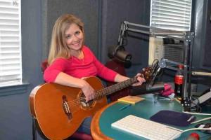 Carla Ulbrich in the studios of WFDU-FM