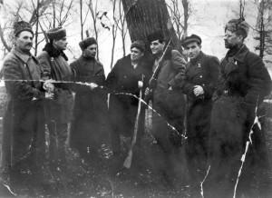 Partisans in the Vinnitsa District, Ukraine, 1943 (Yad Vashem Photo Archives, 4613/964)