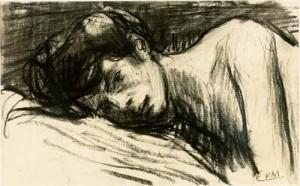 """Eugeen van Mieghem: """"Augustine Sick"""" (1901) (Van Mieghem Museum, Antwerp; Artmagazin online)"""