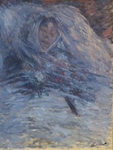 "Claude Monet: ""Camille on her deathbed"" (1879) (Musee d'Orsay; Wikipedia)"