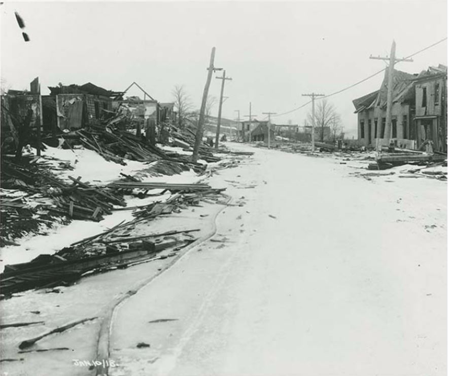 Campbell Road, Halifax, January, 1918 - Gauvin & Gentzel Nova Scotia Archives Photo / negative: N-201
