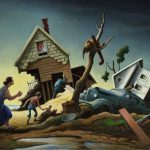 """Flood Disaster (Homecoming - Kaw Valley),"" 1951, by Thomas Hart Benton (1889-1975)"