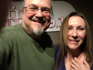 Ron Olesko and Marci Geller at WFDU-FM