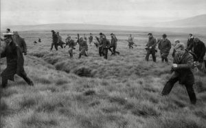 October 1965: Police search Saddleworth Moor (photo: David Thorpe, Associated Newspapers, Rex Features)