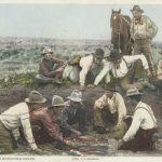 Cowboys shooting craps (Detroit Publishing Company Postcards; NY Public Library Digital Collection)