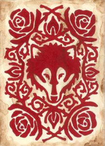 Dire Wolf card back - Kristina Layton - used by permission of the artist