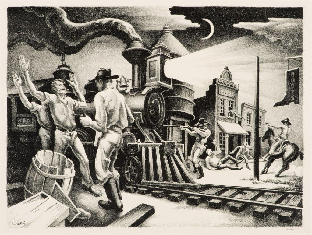 """Jesse James"" (1936) by Thomas Hart Benton (1889-1975)"