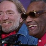 Willie Nelson and Ray Charles (screencap of a live performance)
