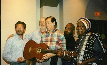 Eric Weissberg,Pete Seeger, Oscar Brand, Josh White Jr., Odetta at Folksong Festival's 50th Anniversary Show in 1995