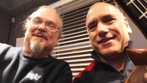 Ron Olesko and David Broza in the WFDU-FM studio