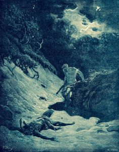 """Gustave Doré: """"Death of Abel"""" (Bible engraving, 1886)"""
