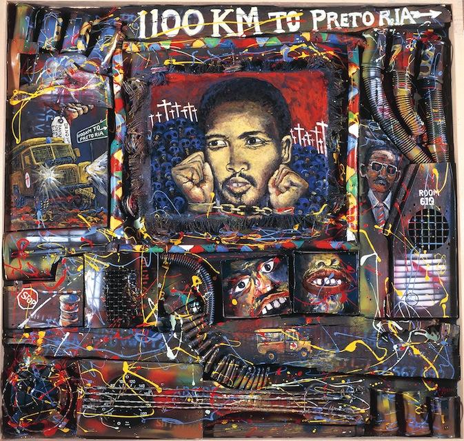 Steve Biko Tribute (1992), by Willie Bester
