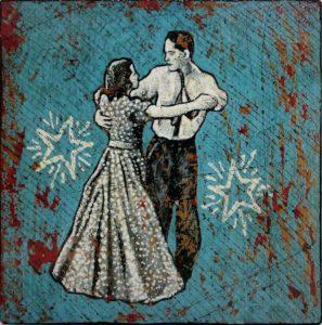 "Jon Langford: ""Dancing with Death in the Dollar Dress"" (multi-media, 2007; permission of the artist: www.yarddog.com)"